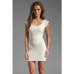 Tylie Crochet Cap Sleeve Dress in Cream