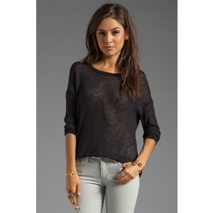Soft Joie Carmi Slub Sweater in Black