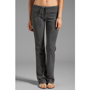 Splendid Space Dyed Heather Active Wide Leg Sweat Pant in Charcoal