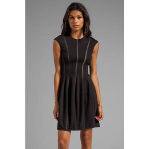 Torn by Ronny Kobo Delilah Mesh Dress in Black