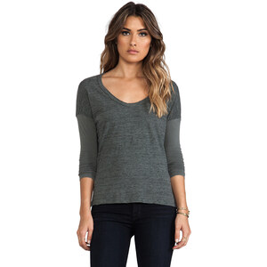 James Perse Colorblock Boxy Tee in Gray