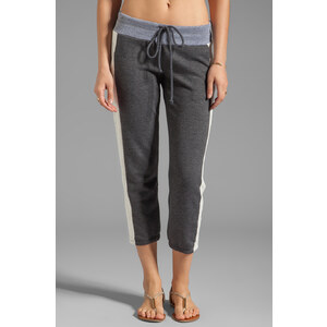 Splendid Color Blocked Active Sweat Pant in Charcoal