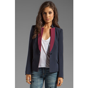 Marc by Marc Jacobs Sparks Crepe Blazer in Navy