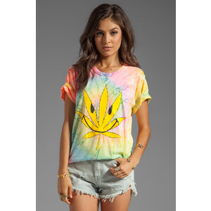 UNIF Happy Weed Graphic Tee in Pink