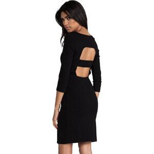 Catherine Malandrino Afra Cut Out Long Sleeve Ponte Dress in Black