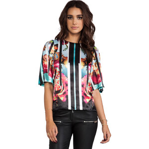 Clover Canyon Rose Stripe Top in Black