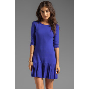 Shoshanna Lisette Sweater Dress in Blue