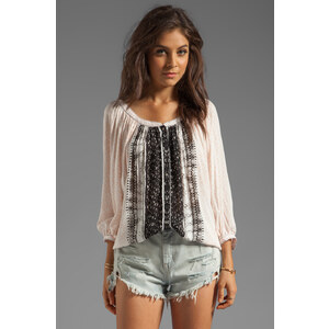 Free People Days of Romance Top in Peach