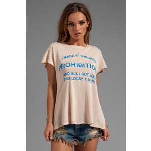 Wildfox Couture Made It Through Prohibition Desert Crew Neck in Pink