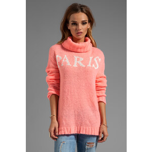Wildfox Couture White Label Paris Is Home Seatle Sweater in Pink