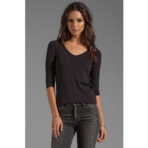 Velvet by Graham & Spencer Venice Sheer Jersey Long Sleeve in Black