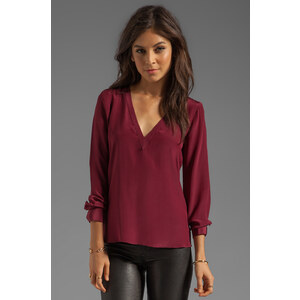 Rory Beca Prescott Open Back Top in Burgundy