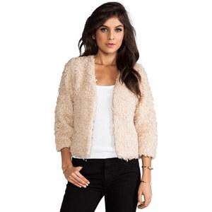 RVCA Browne Faux Fur Jacket in Cream
