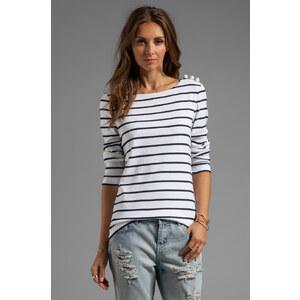 SONIA by Sonia Rykiel Tee Stripe Shirt in White