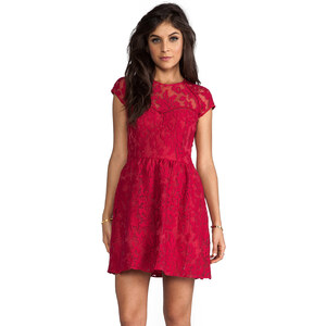 Dolce Vita Winsor Organza Lace Dress in Red