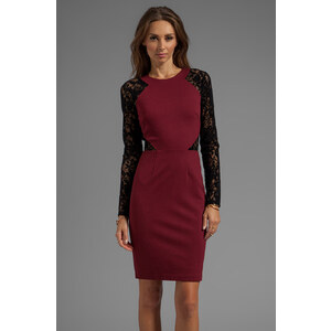 Alice by Temperley Solitaire Dress in Wine