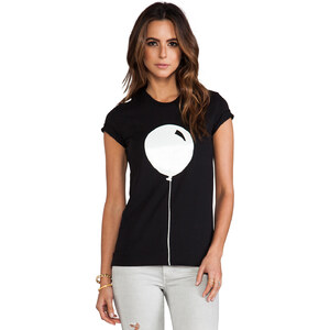 Markus Lupfer Rubber Graphic Balloon Tee in Black