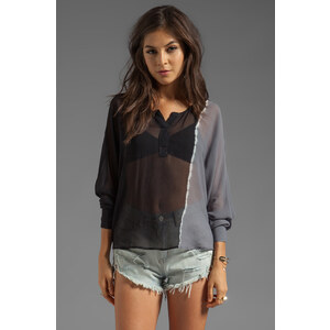 Young, Fabulous & Broke Tina Side Ombre Top in Black