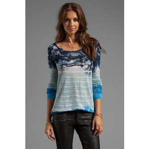 Young, Fabulous & Broke Agnes Watercolor Sweater in Blue