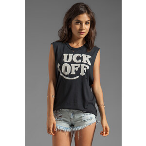 UNIF Uck Off Graphic Tank in Black