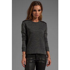 SUNDRY Terry Pullover in Charcoal