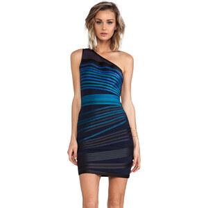 Halston Heritage One Shoulder Dress in Blue