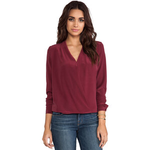 Feel the Piece Shrimpton Blouse in Wine