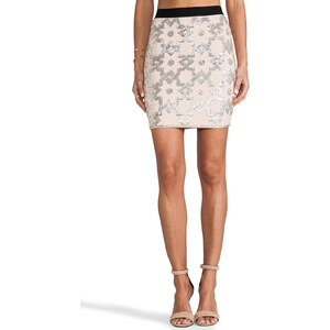 By Malene Birger Embellished Stretch Kiala Skirt in Beige