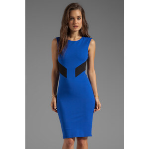 Bailey 44 Biotech Color Block Cut Out Body Con Dress in Blue