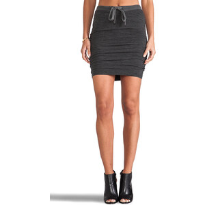 James Perse Drawstring Skirt in Gray