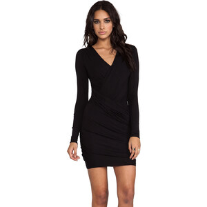 Bailey 44 Refresh Body Con Wrap Dress in Black