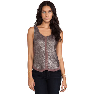 renzo + kai 2 Tone Sequin Hook and Eye Tank in Mauve