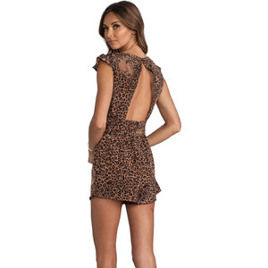 Lovers + Friends You and I Romper in Brown