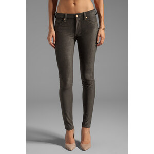 7 For All Mankind The Sueded Skinny in Dark Green