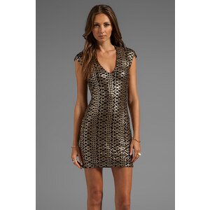 DV by Dolce Vita Dionna Tribal Sequins Dress in Black