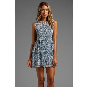 DV by Dolce Vita Eniko Lace Print Dress in Blue