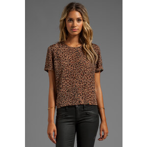 Lovers + Friends Perfection Tee in Brown
