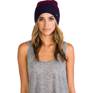 Free People Stripped Sailor Beanie in Red