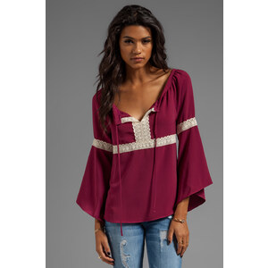 VAVA by Joy Han Angie Top in Wine