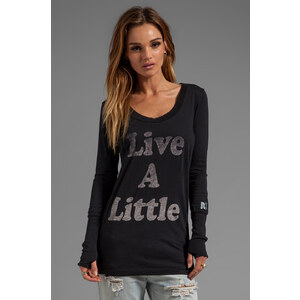 Rebel Yell Live Skinny Tee in Black