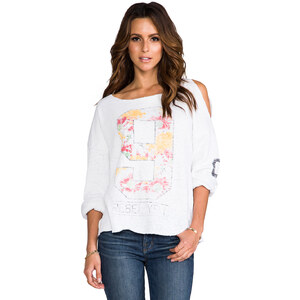 Rebel Yell U.S.A. Torn Lounger in White