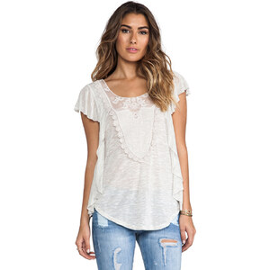 Free People Lil Luella Top in Ivory