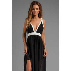 keepsake Eyes Wide Open Maxi Dress in Black