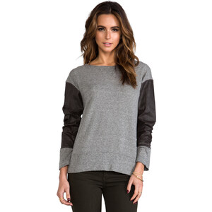 Current/Elliott The Stadium Sweatshirt in Grey