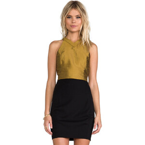 harlyn Cut Out Crop Top in Yellow