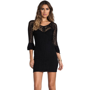 Free People City Girl Body Con Dress in Black