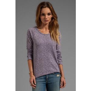 MONROW Rock Leopard Sweatshirt in Lavender