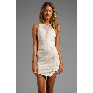 Style Stalker Shorty Dress in Cream