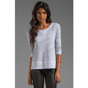 Splendid Space Dyed Heather Active Pullover in Gray