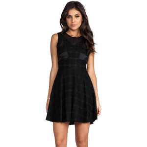 MM Couture by Miss Me Sleeveless Lace Dress in Black